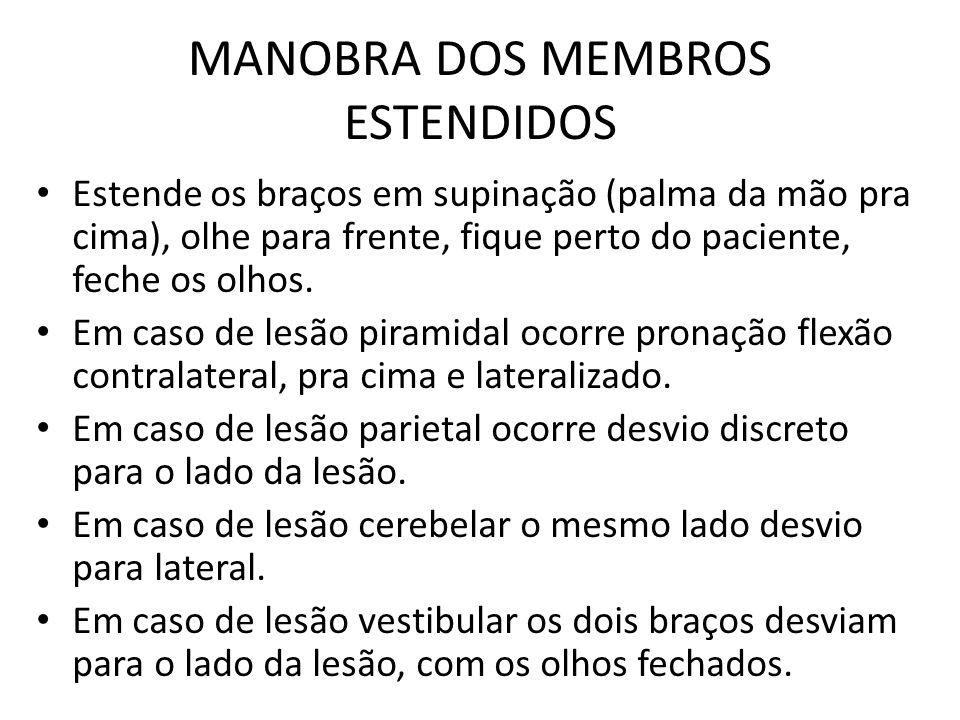 MANOBRA DOS MEMBROS ESTENDIDOS