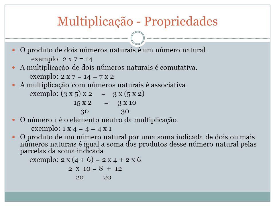 Multiplicação - Propriedades