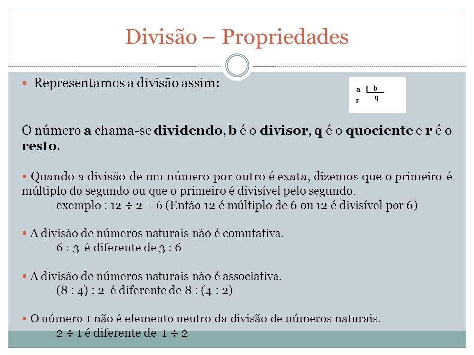 Divisão – Propriedades