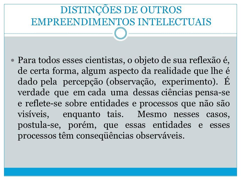 DISTINÇÕES DE OUTROS EMPREENDIMENTOS INTELECTUAIS