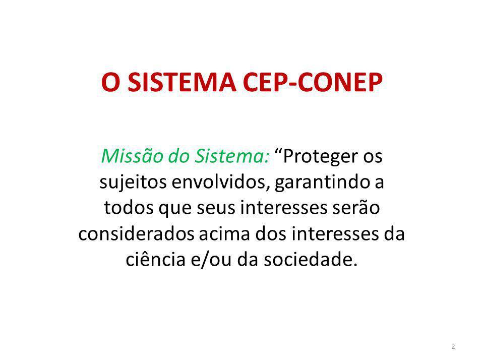 O SISTEMA CEP-CONEP