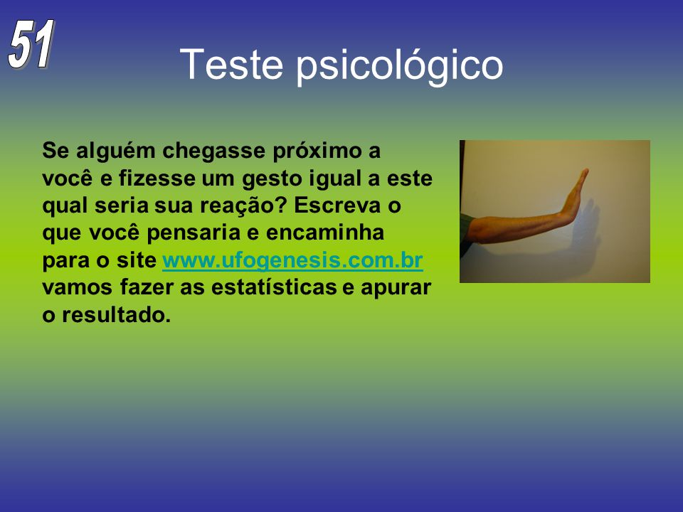 51 Teste psicológico.