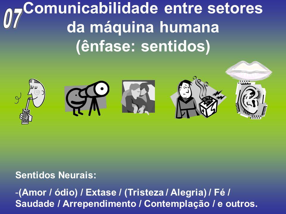 Comunicabilidade entre setores da máquina humana (ênfase: sentidos)