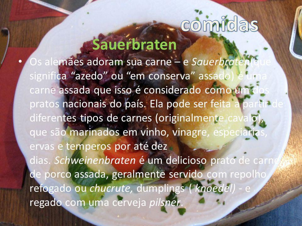 Seu texto aqui comidas Sauerbraten