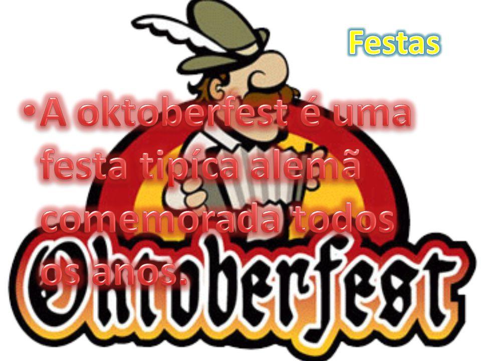 A oktoberfest é uma festa tipíca alemã comemorada todos os anos.