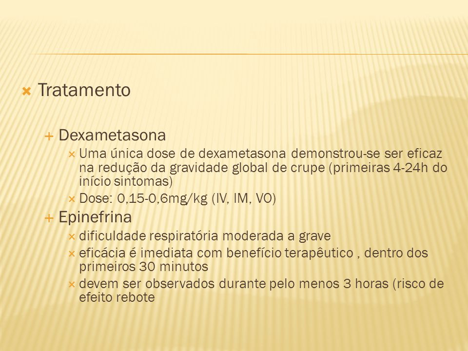 Tratamento Dexametasona Epinefrina