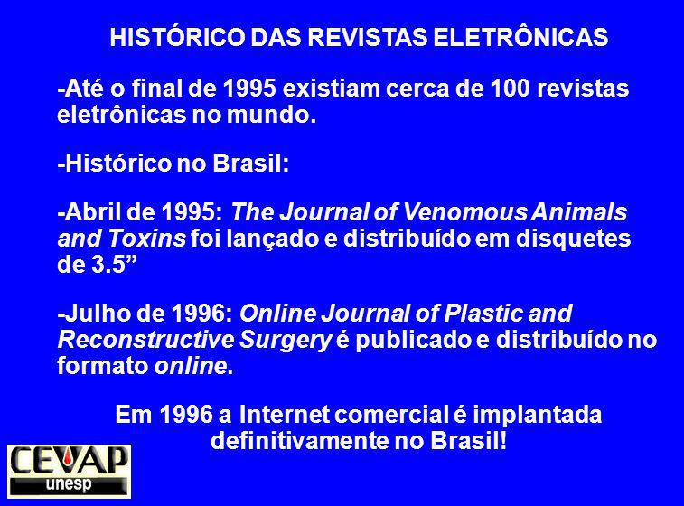 HISTÓRICO DAS REVISTAS ELETRÔNICAS