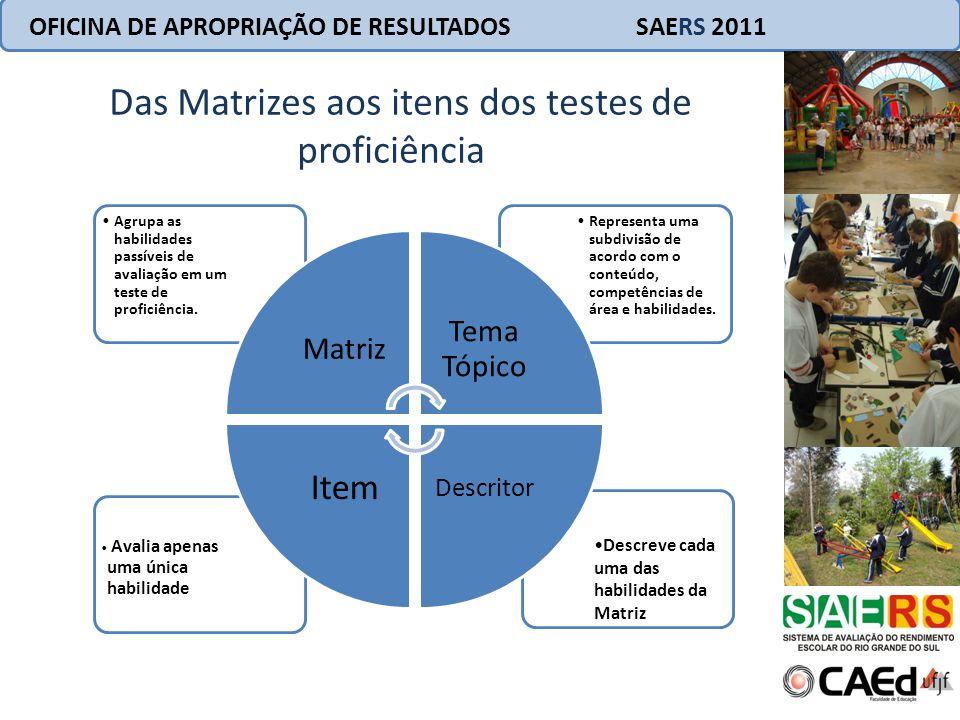 Das Matrizes aos itens dos testes de proficiência