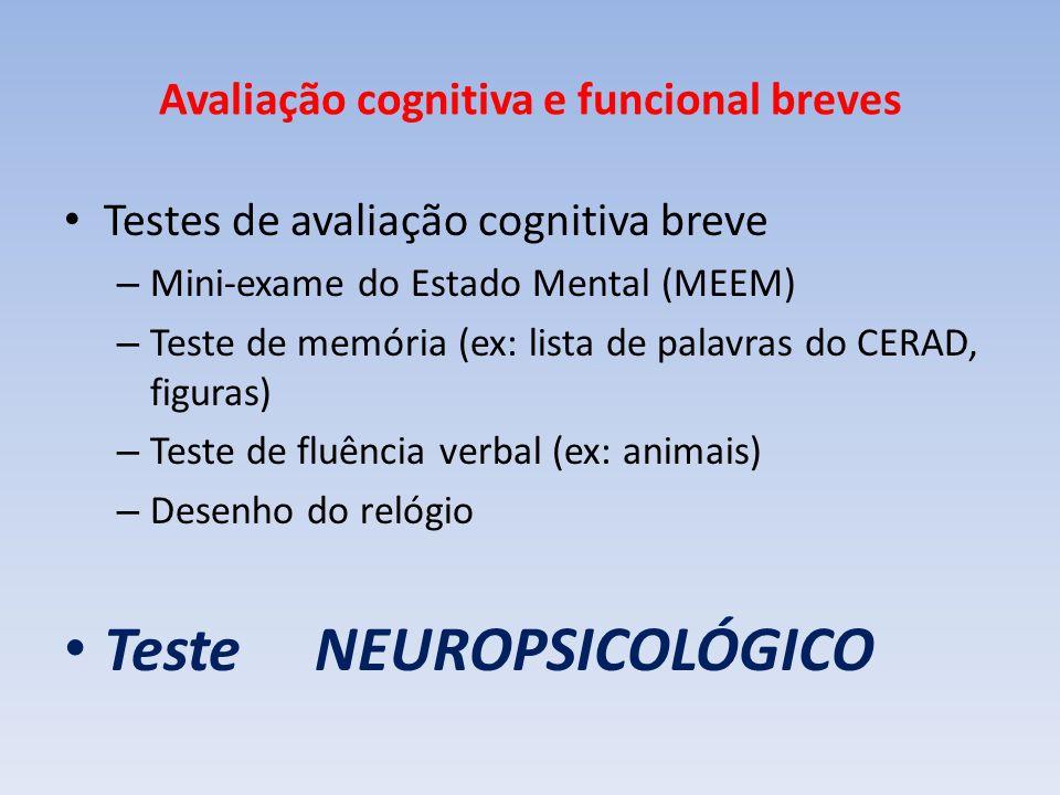 Avaliação cognitiva e funcional breves