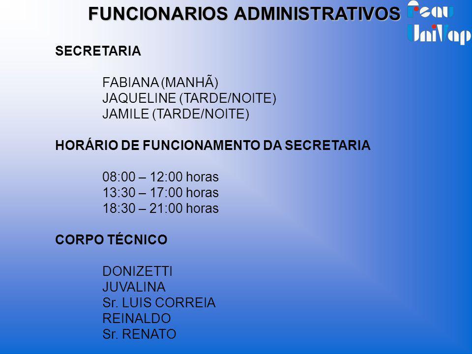 FUNCIONARIOS ADMINISTRATIVOS