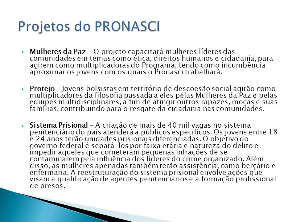 Projetos do PRONASCI