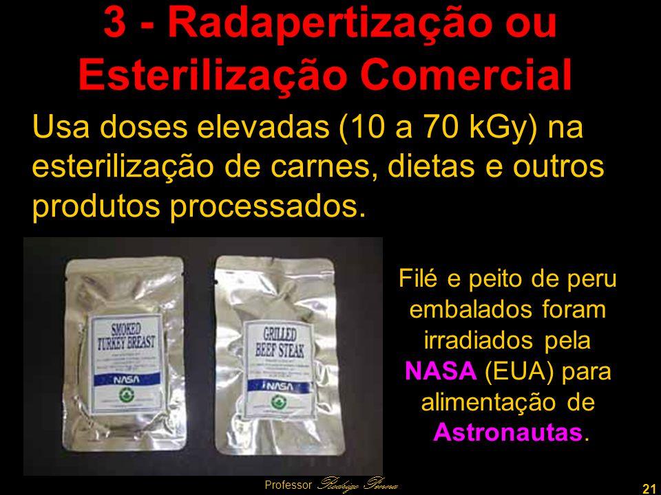 3 - Radapertização ou Esterilização Comercial