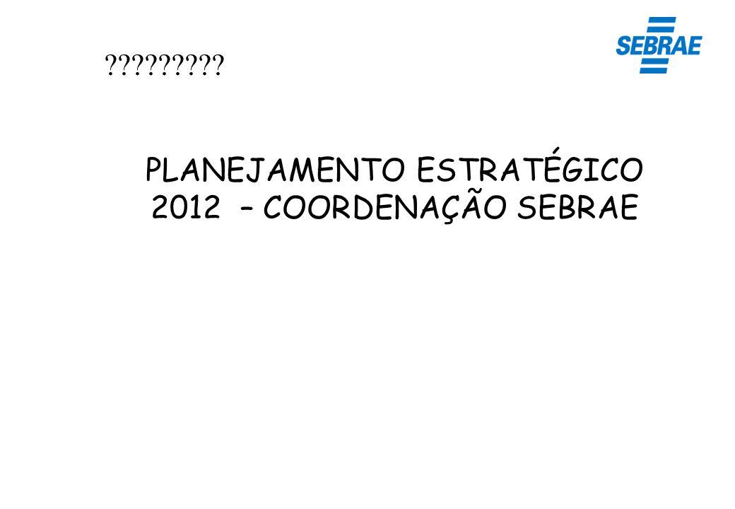 PLANEJAMENTO ESTRATÉGICO 2012 – COORDENAÇÃO SEBRAE
