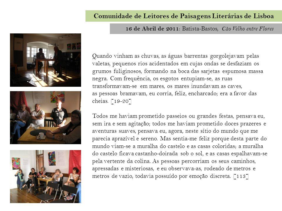 Comunidade de Leitores de Paisagens Literárias de Lisboa