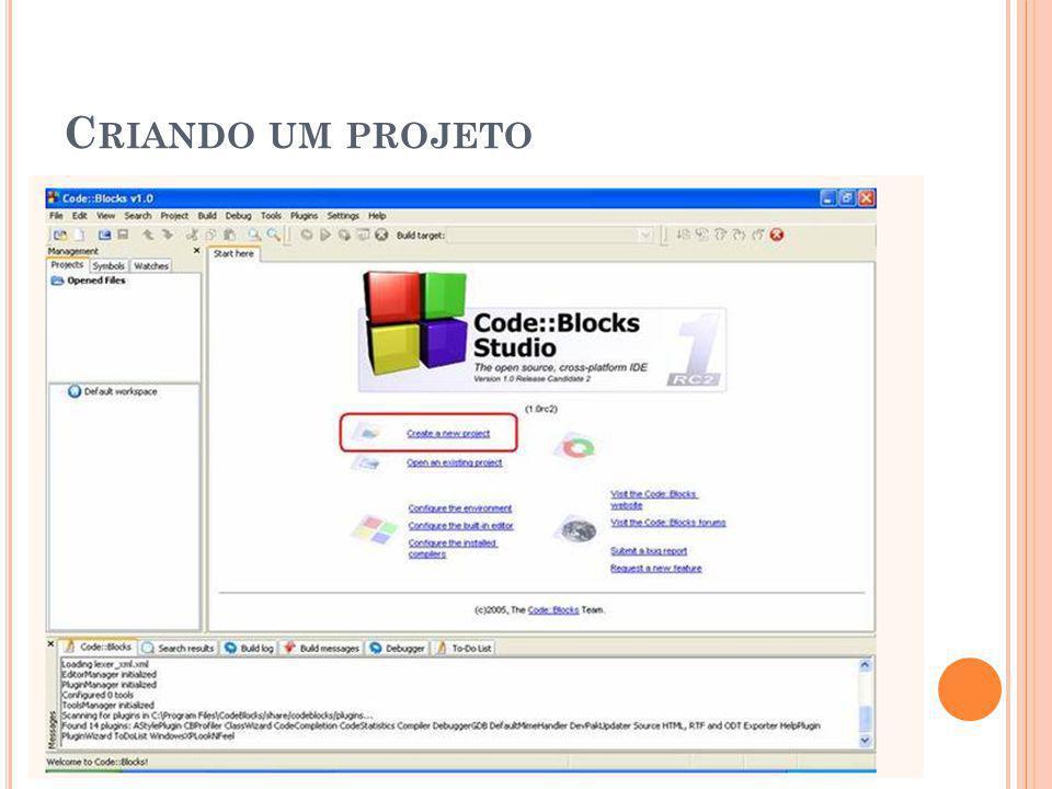 Criando um projeto