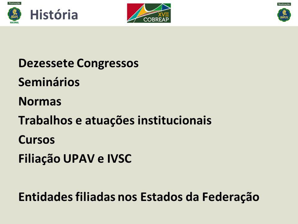 História Dezessete Congressos Seminários Normas