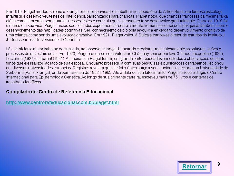 Retornar Compilado de: Centro de Referência Educacional