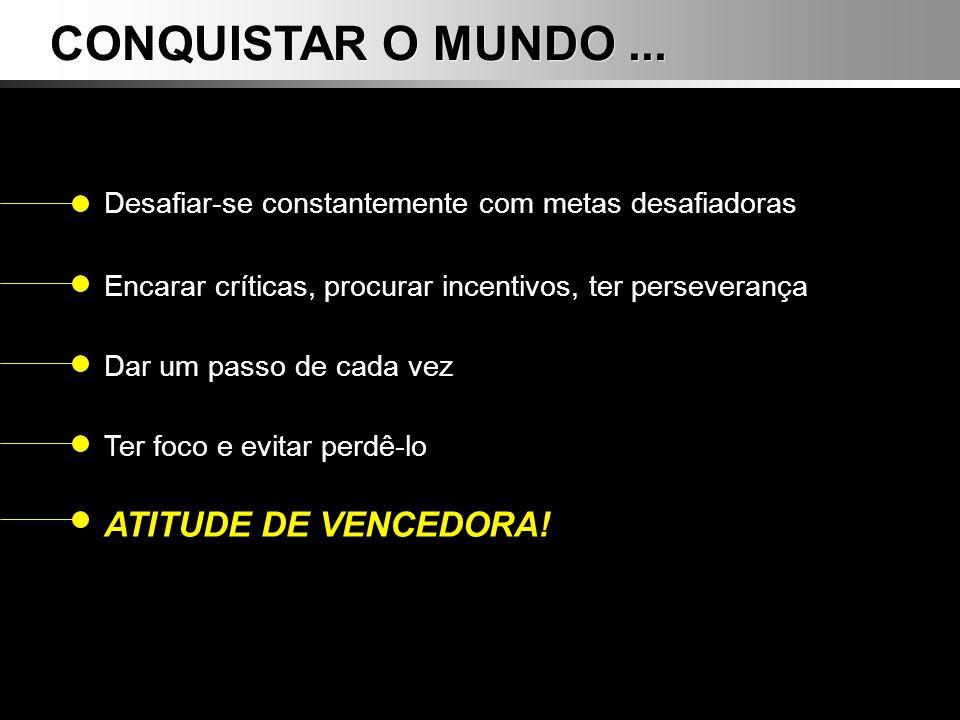 CONQUISTAR O MUNDO ... ATITUDE DE VENCEDORA!