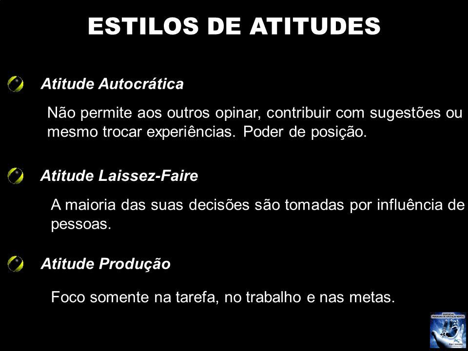 ESTILOS DE ATITUDES Atitude Autocrática