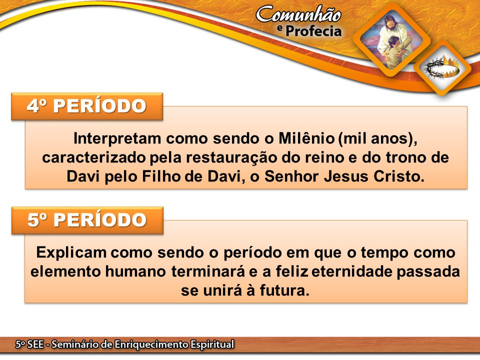 Interpretam como sendo o Milênio (mil anos), caracterizado pela restauração do reino e do trono de Davi pelo Filho de Davi, o Senhor Jesus Cristo.