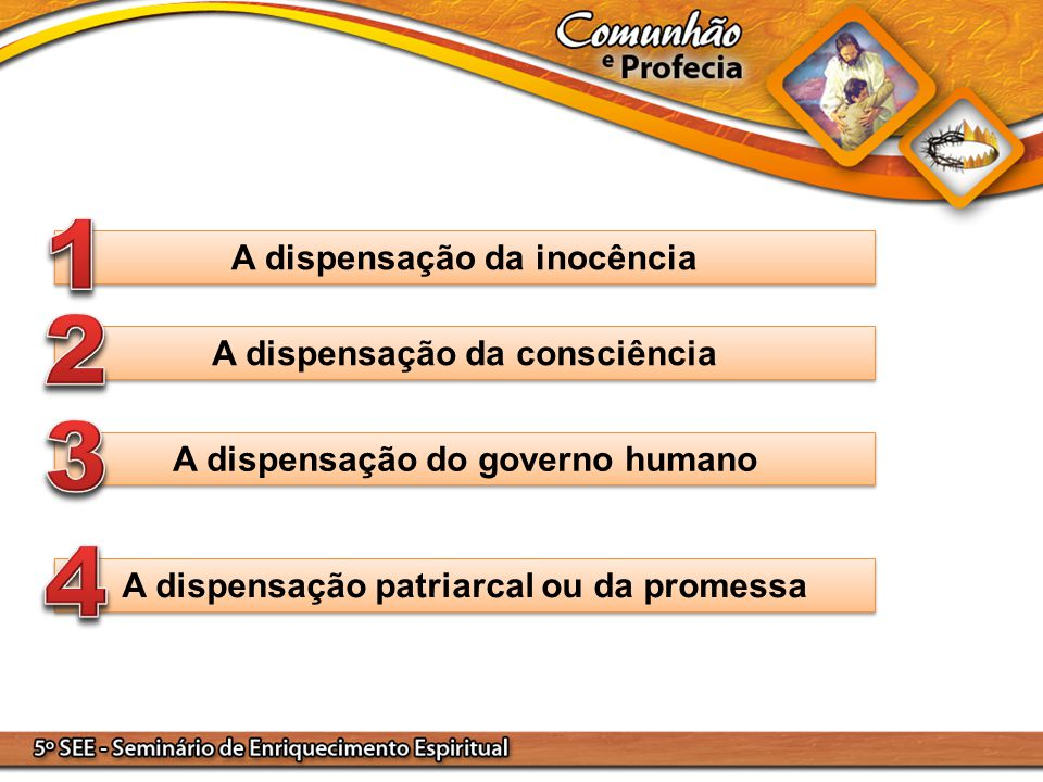 1 2 3 4 A dispensação da inocência A dispensação da consciência