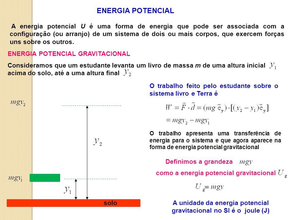 A unidade da energia potencial gravitacional no SI é o joule (J)