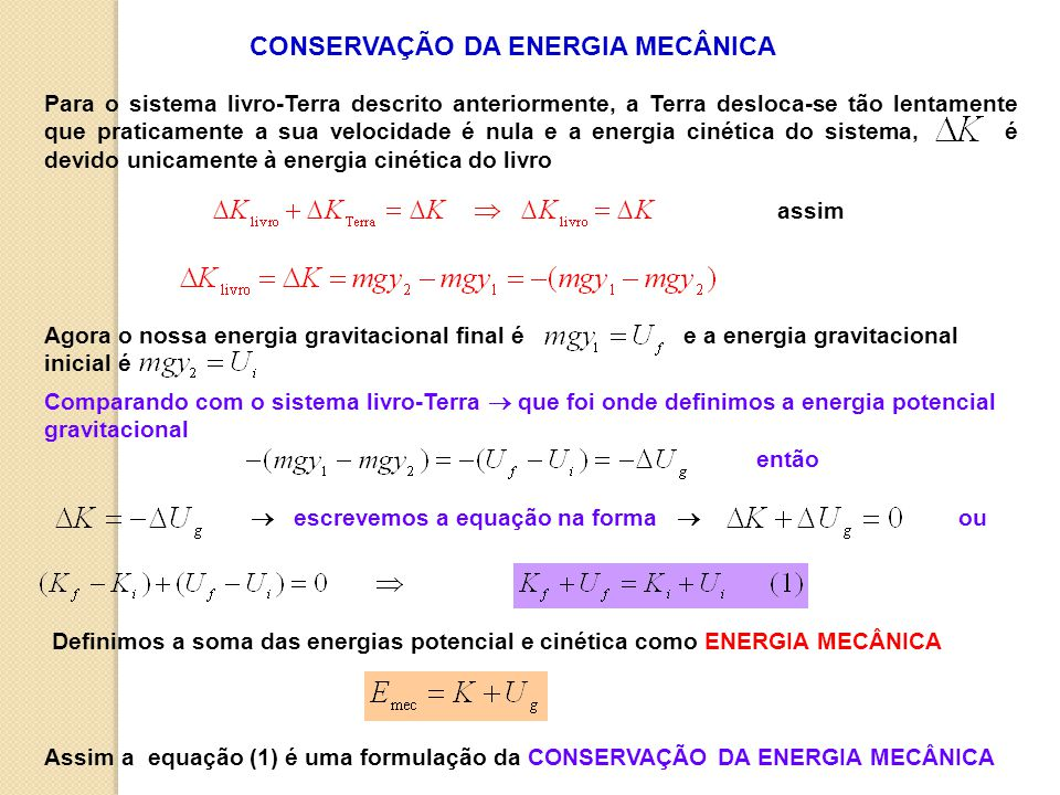CONSERVAÇÃO DA ENERGIA MECÂNICA
