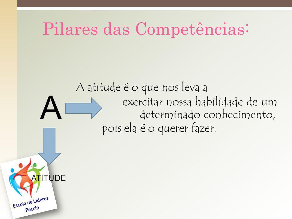 A Pilares das Competências: A atitude é o que nos leva a