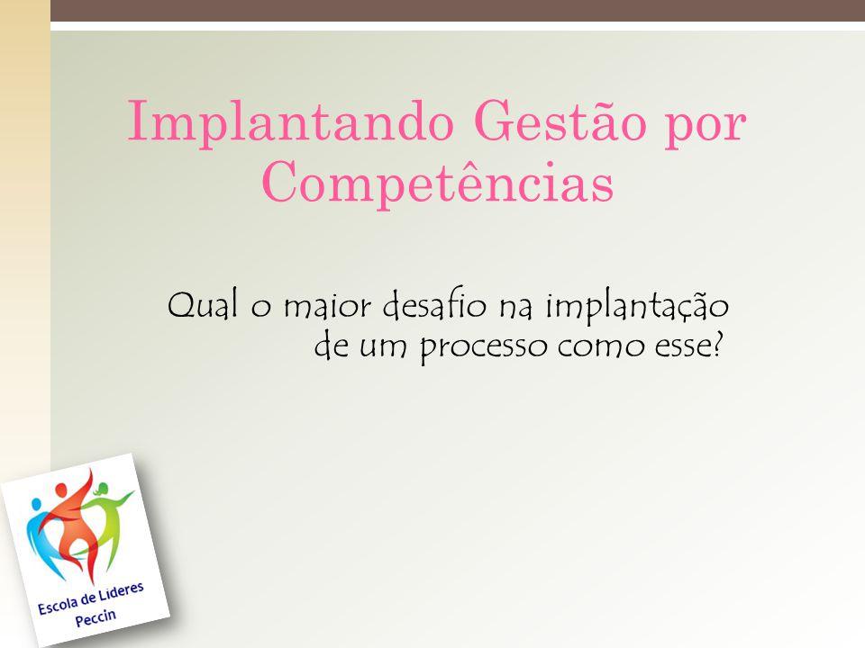 Implantando Gestão por Competências