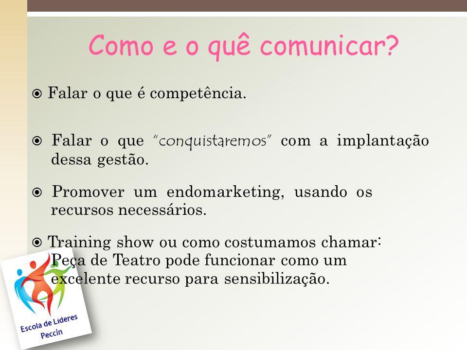 Como e o quê comunicar  Falar o que é competência.