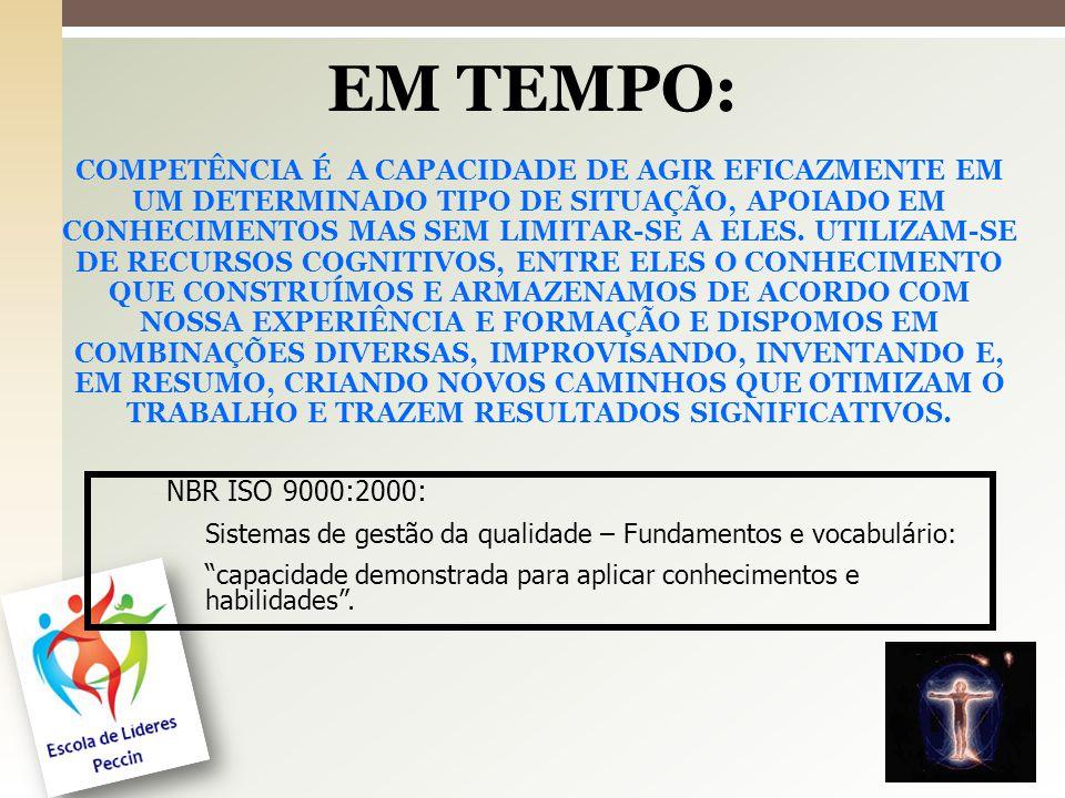 EM TEMPO: