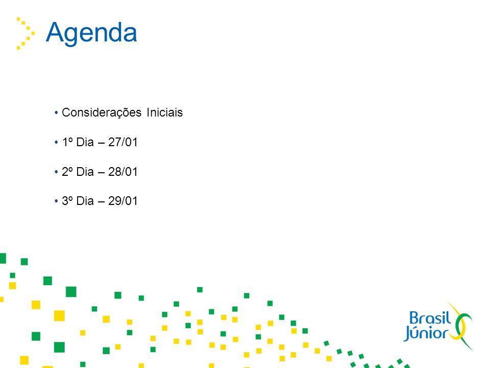 Agenda Considerações Iniciais 1º Dia – 27/01 2º Dia – 28/01