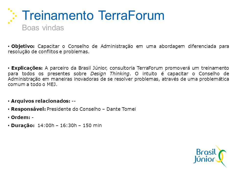 Treinamento TerraForum