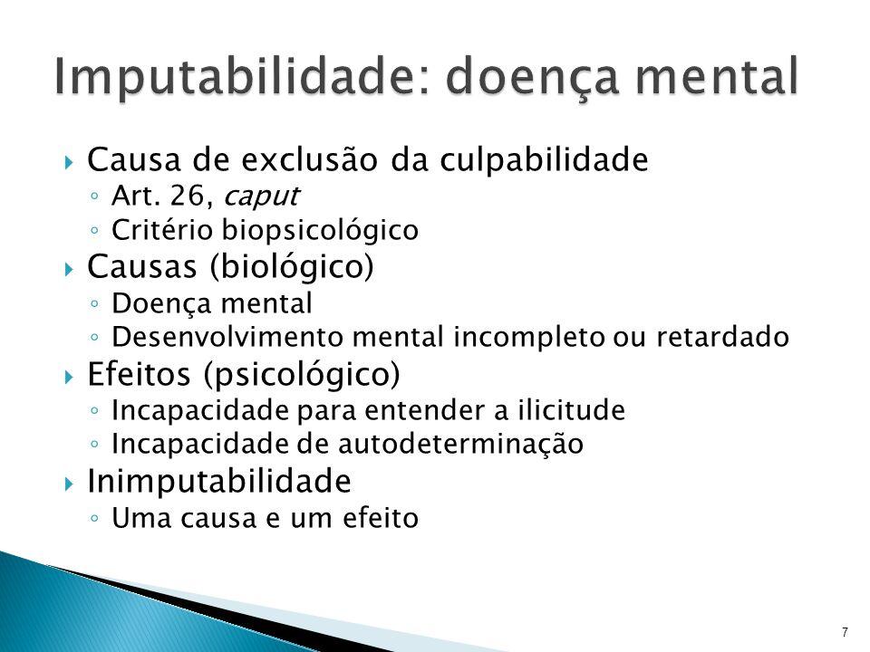 Imputabilidade: doença mental