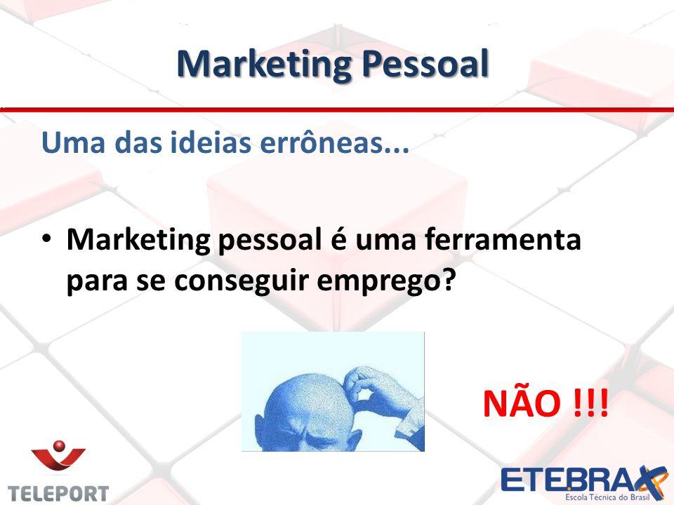 Marketing Pessoal NÃO !!! Uma das ideias errôneas...