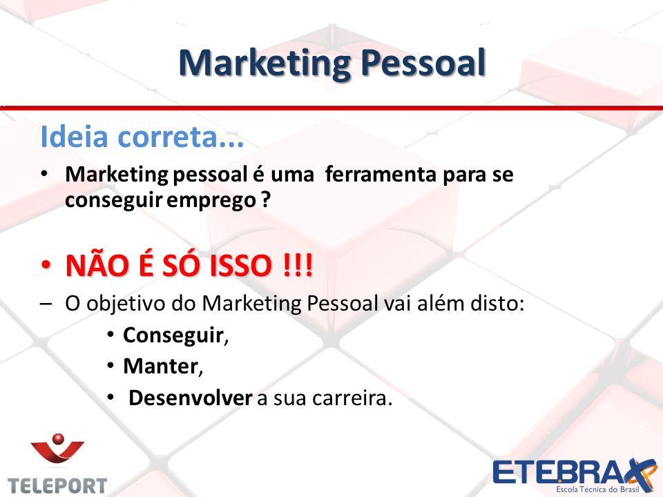 Marketing Pessoal Ideia correta... NÃO É SÓ ISSO !!!