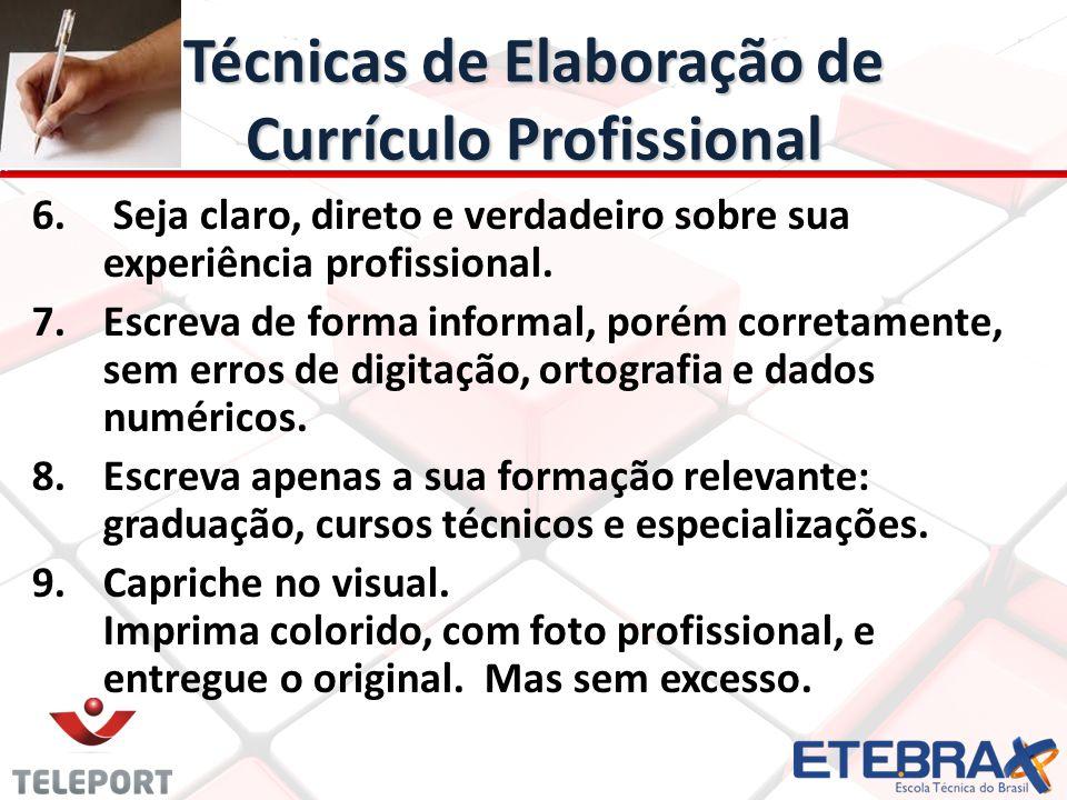 Técnicas de Elaboração de Currículo Profissional