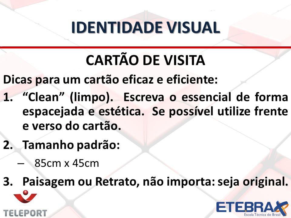 IDENTIDADE VISUAL CARTÃO DE VISITA