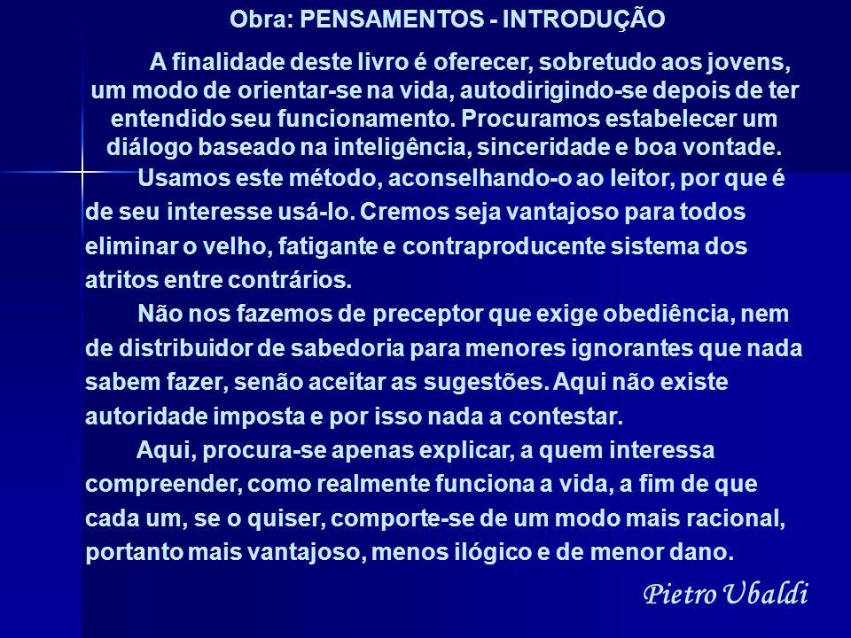 Obra: PENSAMENTOS - INTRODUÇÃO
