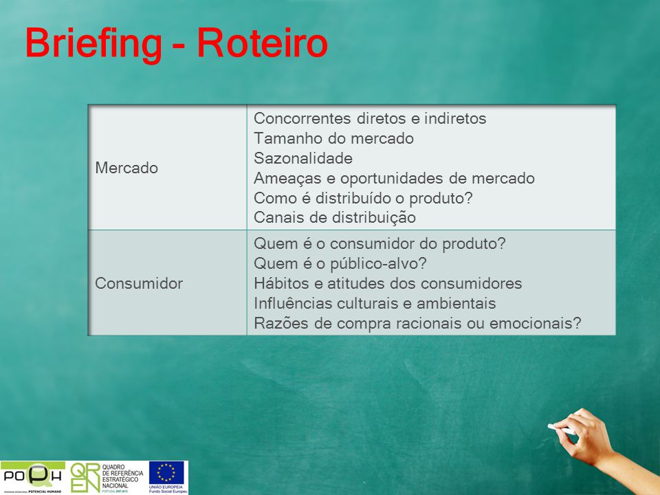 Briefing - Roteiro Mercado Concorrentes diretos e indiretos