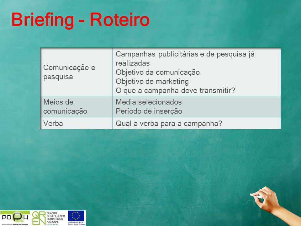 Briefing - Roteiro Comunicação e pesquisa
