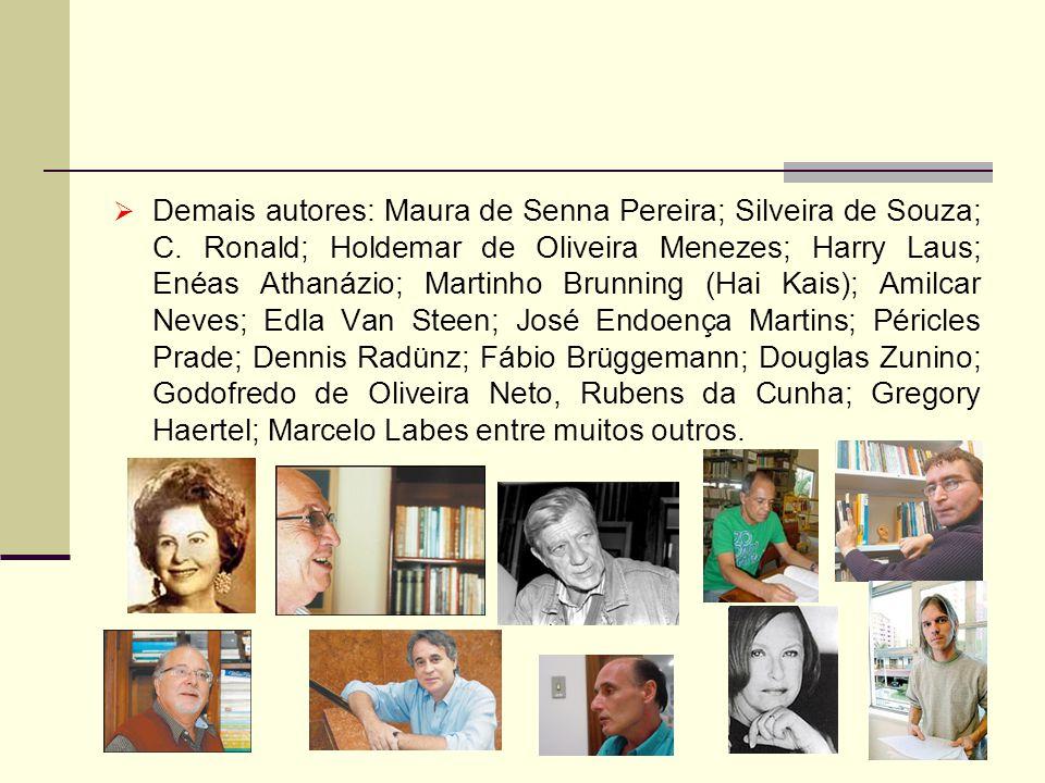 Demais autores: Maura de Senna Pereira; Silveira de Souza; C