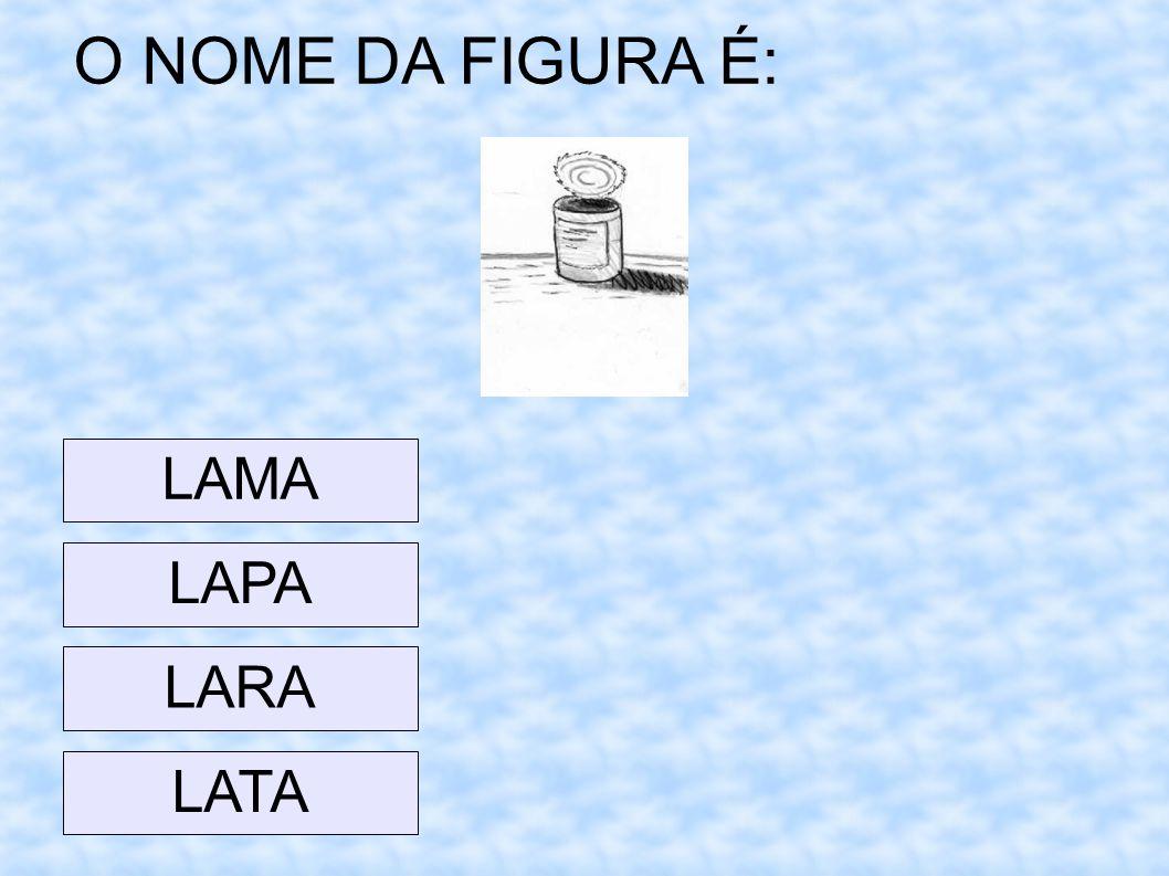 O NOME DA FIGURA É: LAMA LAPA LARA LATA 23 23