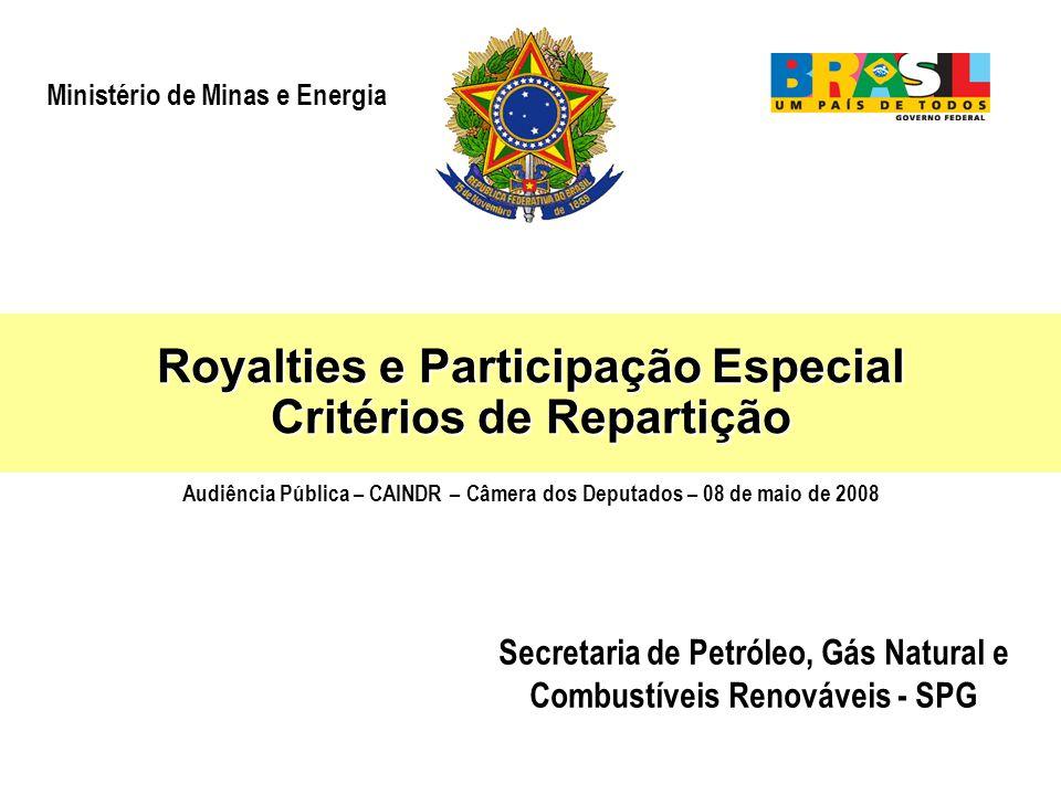 Royalties e Participação Especial Critérios de Repartição