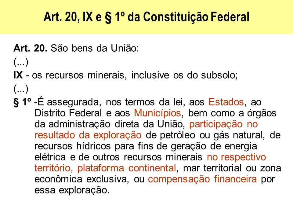 Art. 20, IX e § 1º da Constituição Federal
