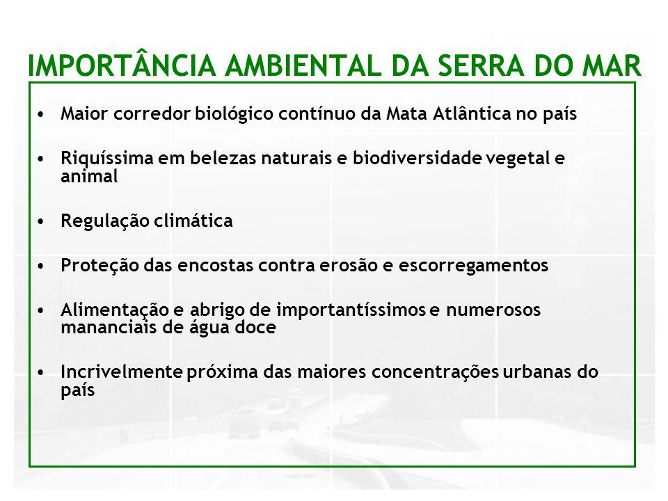 IMPORTÂNCIA AMBIENTAL DA SERRA DO MAR