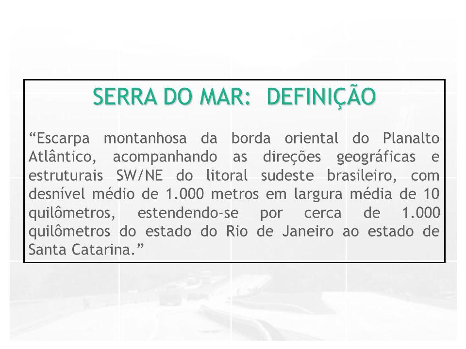 SERRA DO MAR: DEFINIÇÃO