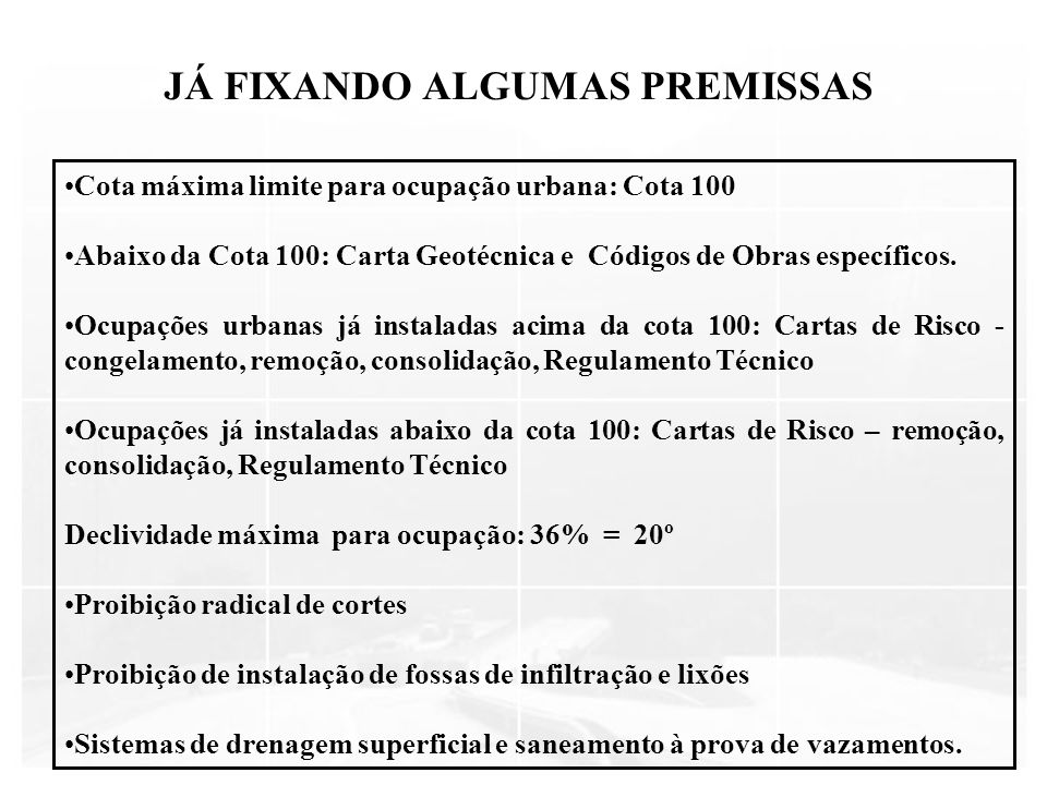 JÁ FIXANDO ALGUMAS PREMISSAS