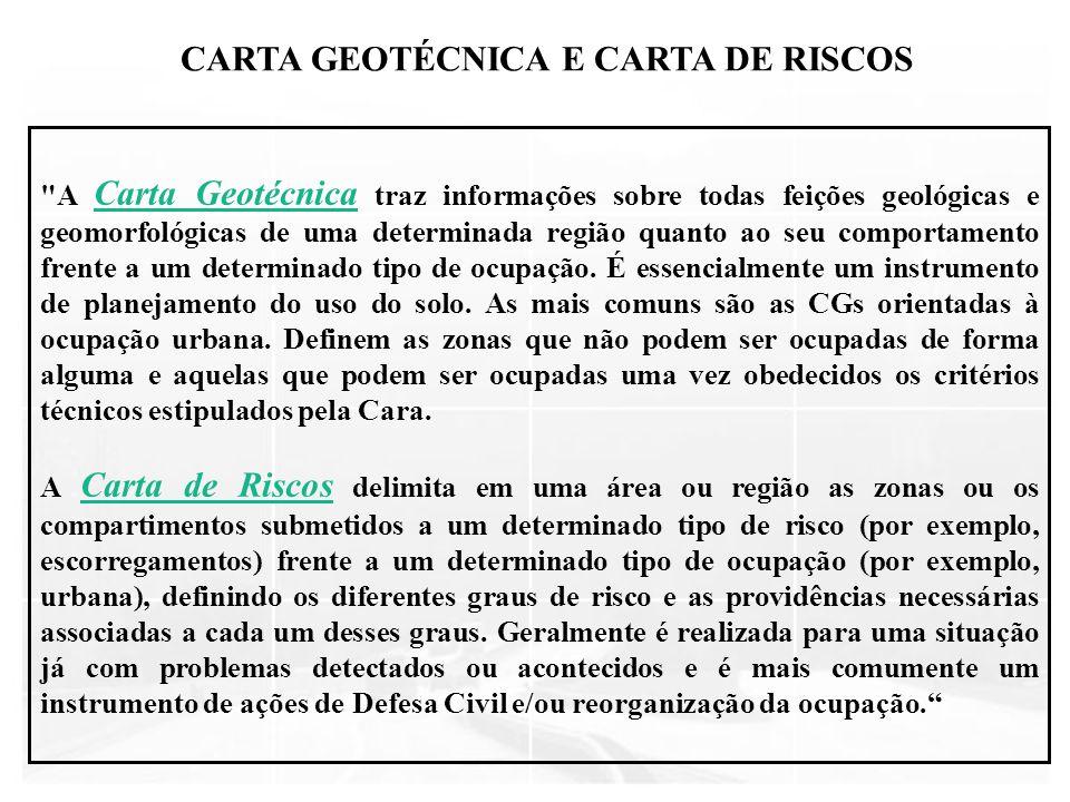 CARTA GEOTÉCNICA E CARTA DE RISCOS