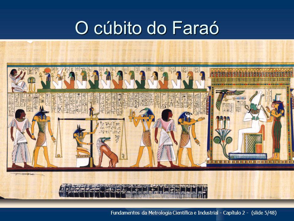 O cúbito do Faraó Fundamentos da Metrologia Científica e Industrial - Capítulo 2 - (slide 5/48)